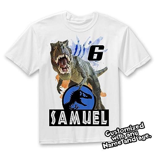 Amazon Jurassic World Dinosaurs Custom T Shirt Dinosaur Birthday Handmade