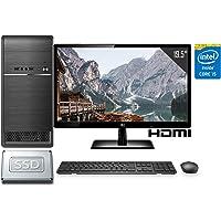 Computador Completo Intel Core i5 8GB SSD 240GB Monitor LED 19.5 HDMI CorPC Fast