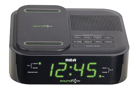 amazon com rca clock radio with soundflow wireless audio and usb rh amazon com Baseball Alarm Clock Radio Westclox Alarm Clock