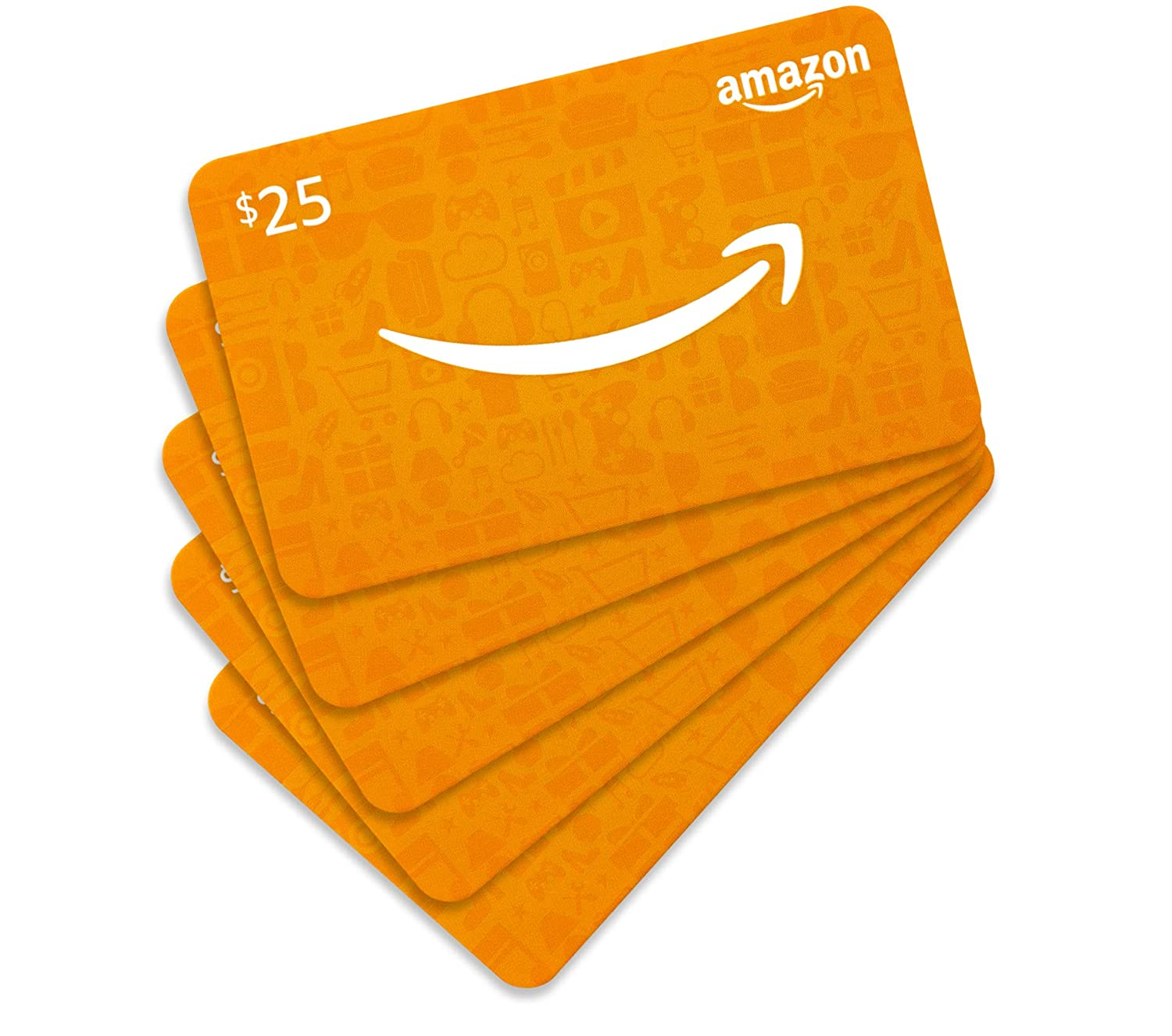 .com $25 Gift Card- Pack of 5 Cards Fixed