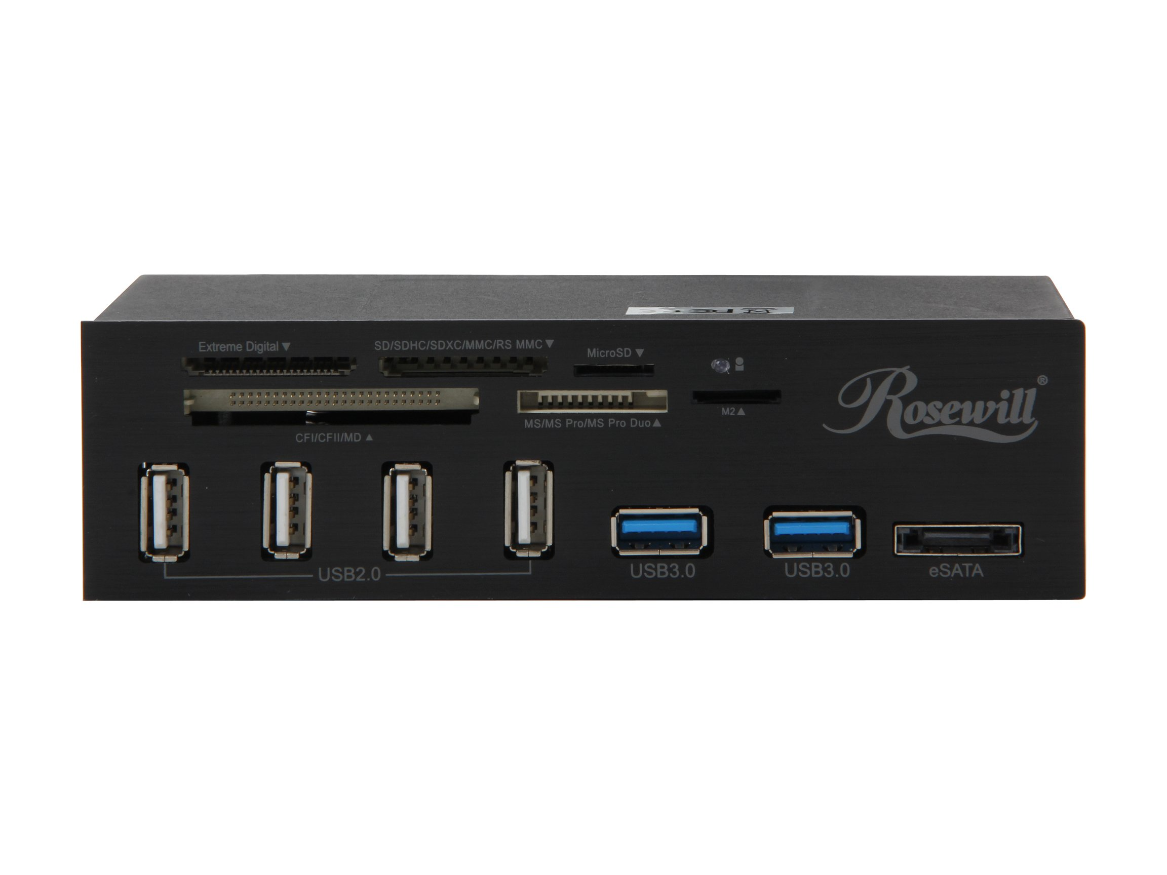 Rosewill 2-Port USB 3.0 4-Port USB 2.0 Hub eSATA Multi-In-1 Internal Card Reader with USB 3.0 Connector (RDCR-11004) by Rosewill (Image #2)