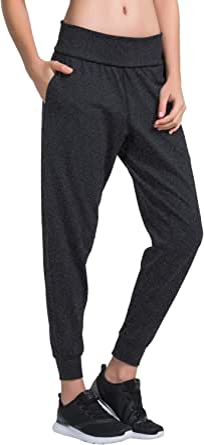 Matymats Women's Sports Harem Sweat Pants Jersey Pocket Jogger
