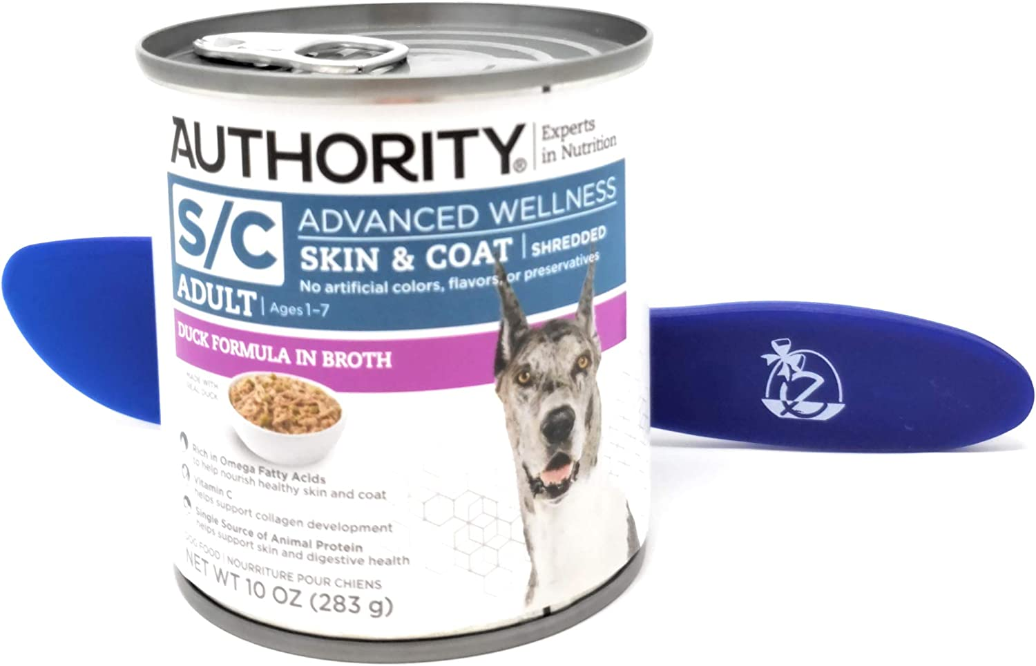 Authority Advanced Wellness Shredded Wet Canned Dog Food, 10oz (Pack of 12) and Especiales Cosas Spatula