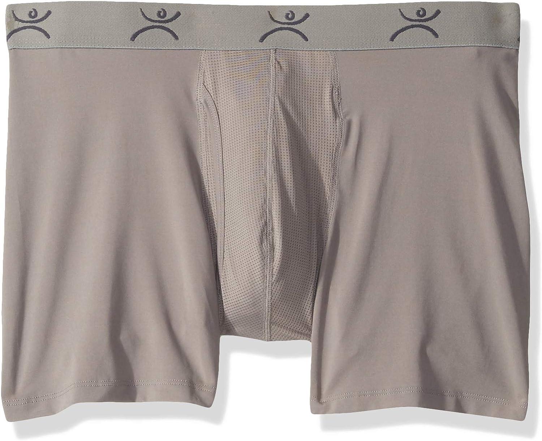 """Terramar Mens Pro Jersey 6"""" Boxer Briefs Underwear (Pack of 1)"""
