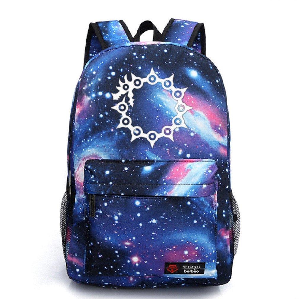 YOYOSHome Luminous Japanese Anime Cosplay Daypack Bookbag Laptop Backpack School Bag (The Seven Deadly Sins Blue)