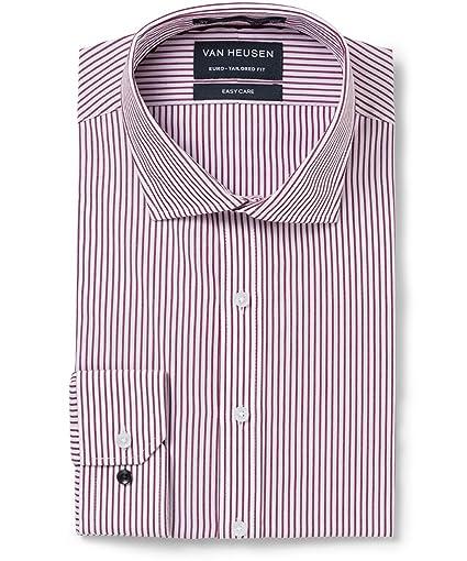 Van Heusen Men's Euro-Tailored Fit Stripe Business Shirt