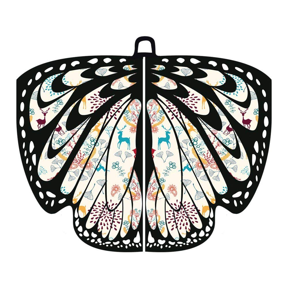 MOZATE Women Christmas Butterfly Wings Shawl Scarves Poncho Costume Accessory