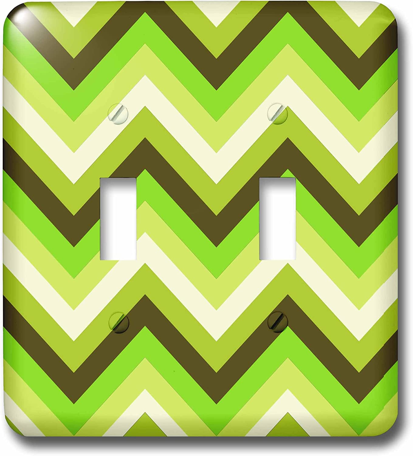 3dRose lsp_165751_2 Chevron Pattern in Green Apple Colors Modern Look Light Switch Cover