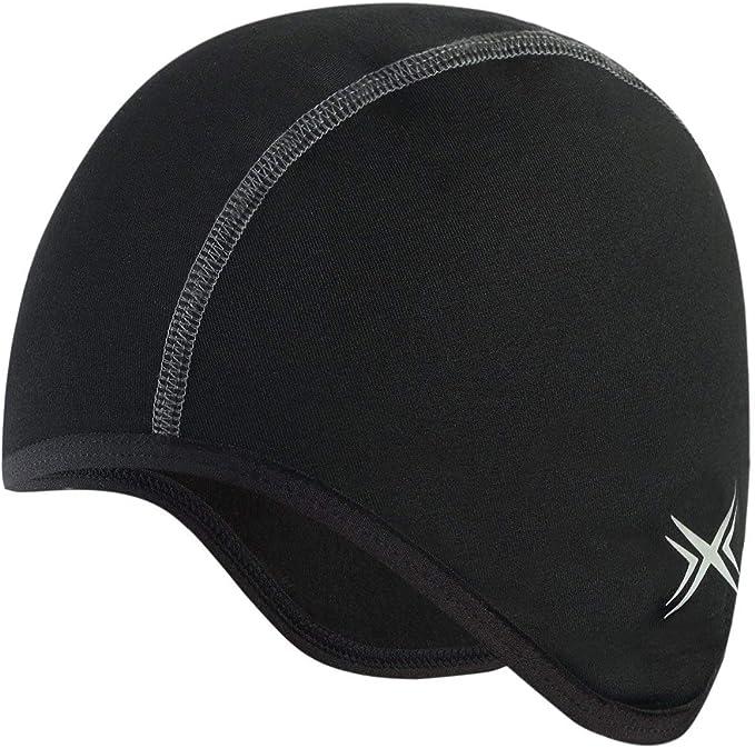 Hiviz Headwear GripGrab Windproof Lightweight Thermal Headband-Under Helmet Cycling Running Bicycle Hat-Black