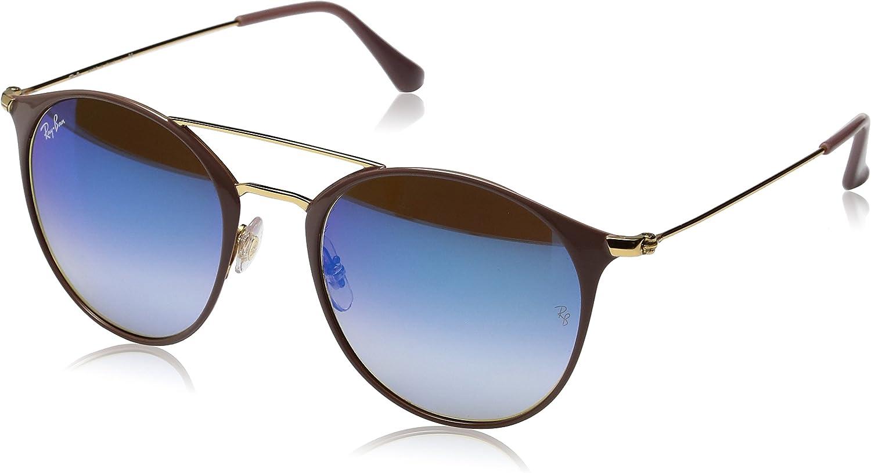 RAY-BAN RB 3546 Gafas de sol, Gold Top Beige, 49 Unisex-Adulto