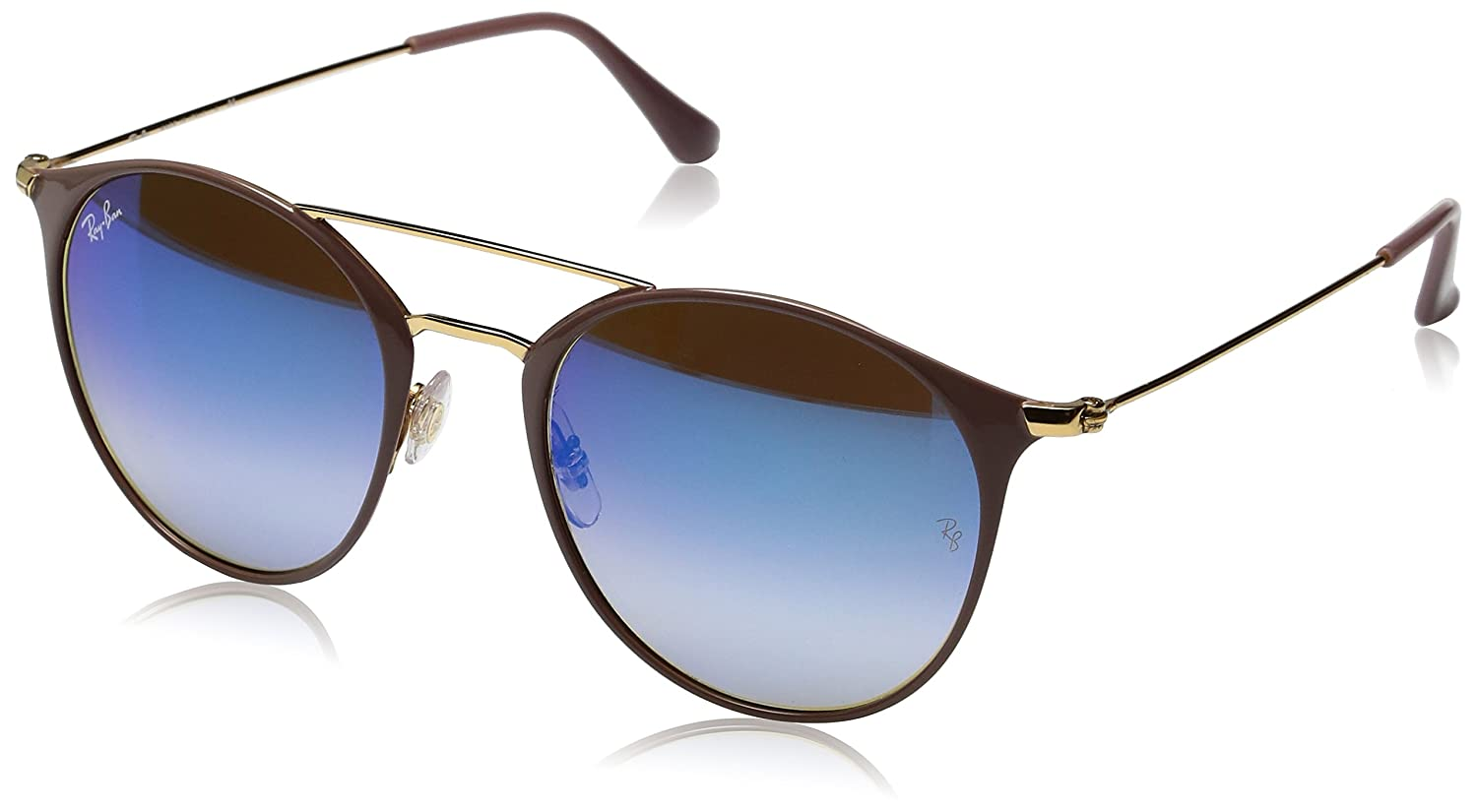 RAY-BAN RB 3546 Gafas de sol, Gold Top Beige, 49 Unisex-Adulto