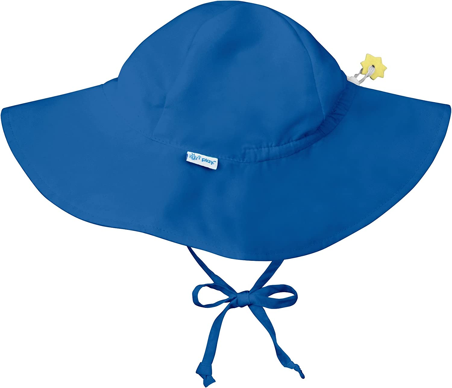 i play. by green sprouts Baby Solid Brim Sun Protection Hat, Royal Blue, 0-6 Months