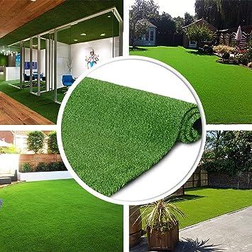 vivejardin - Cesped artificial Premium. Altura de 7mm. Rollos de 2x25 metros Para terraza, jardín, valla, piscina, perro: Amazon.es: Jardín