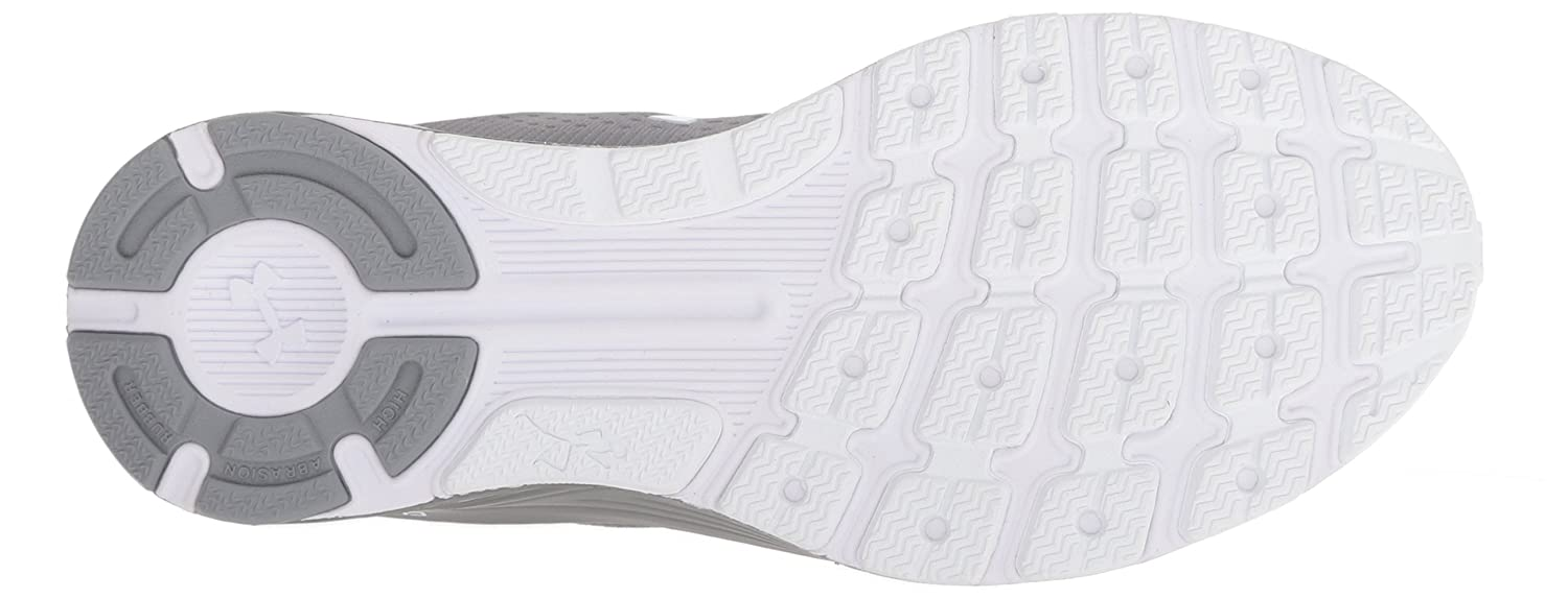 Under Armour Women's Charged Bandit 4 M Running Shoe B076RXVKG7 5 M 4 US|White (102)/Steel 1c26d9