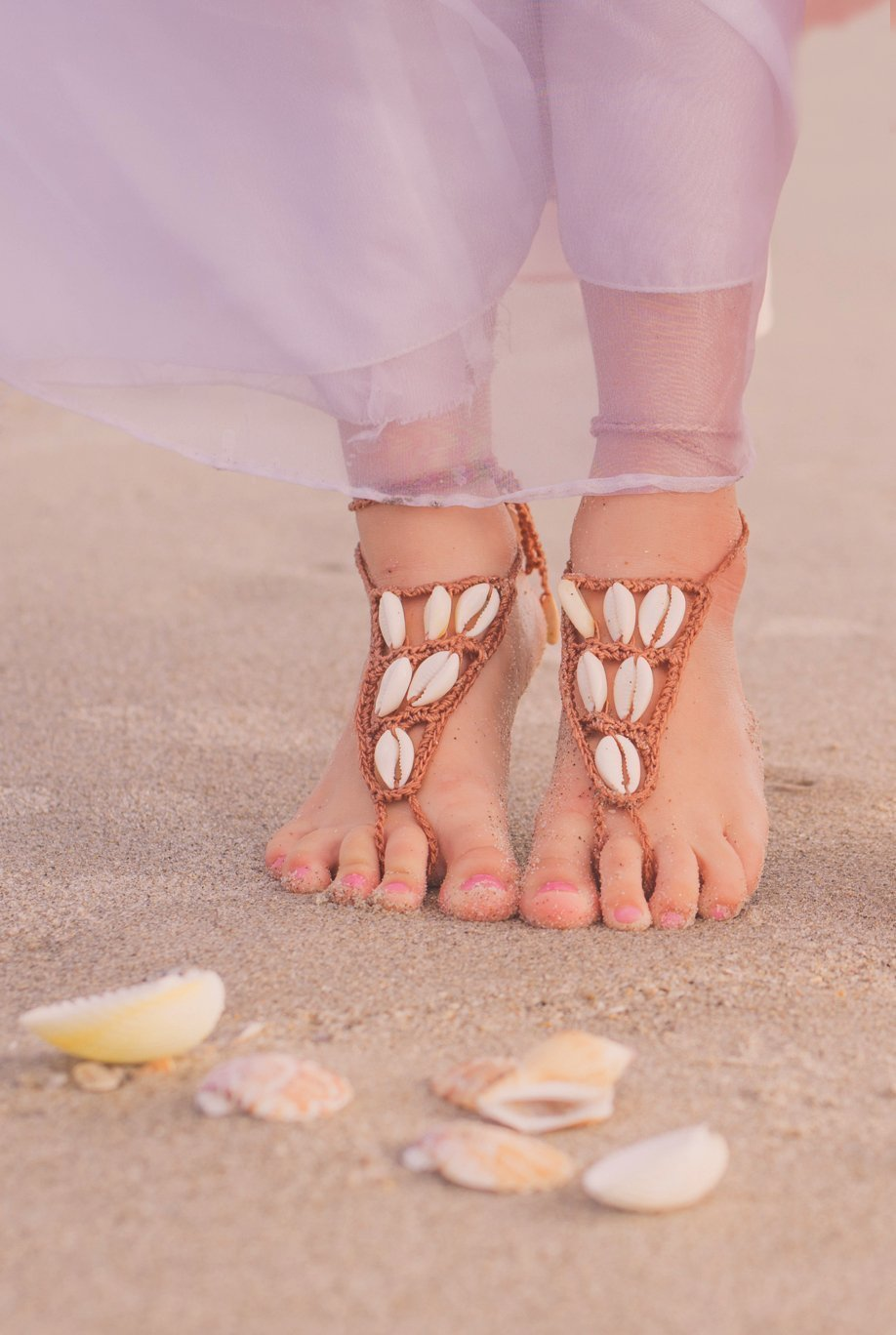 07c8eb0c3 Amazon.com  1 Pair of Baby Barefoot Sandals Foot Jewelery Beach Shoes   Handmade