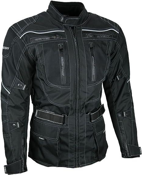 Heyberry Touren Motorrad Jacke Motorradjacke Textil Schwarz Gr Xxl Auto