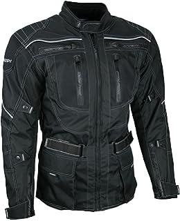 BOSMOTO 2-teiler Motorradkombi Cordura Textilien Motorradjacke /& Motorradhose Schwarz XL