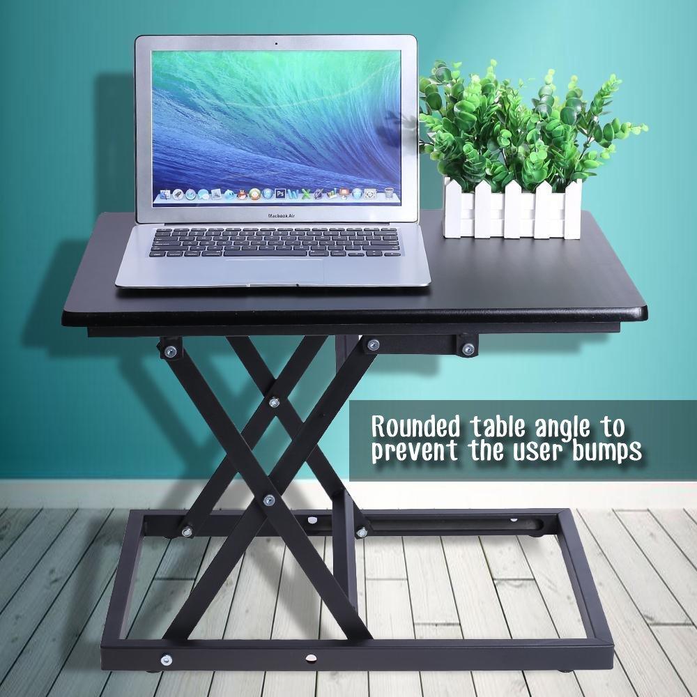 Convertible Standingデスク折りたたみ調節可能なと高さ多機能ポータブルSit to High Stand UpテーブルトップコンピュータまたはラップトップデスクトップUpliftライザーflexispot B07D5FKLC6