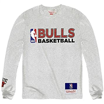 Mitchell & NESS CHICAGO BULLS NBA camiseta de manga larga de equipo issued gris gris Talla