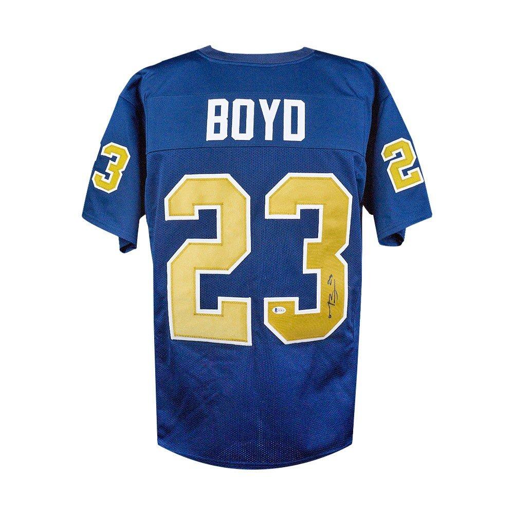best service 1d12d d9e67 Tyler Boyd Autographed Pitt Panthers Custom Blue Football ...