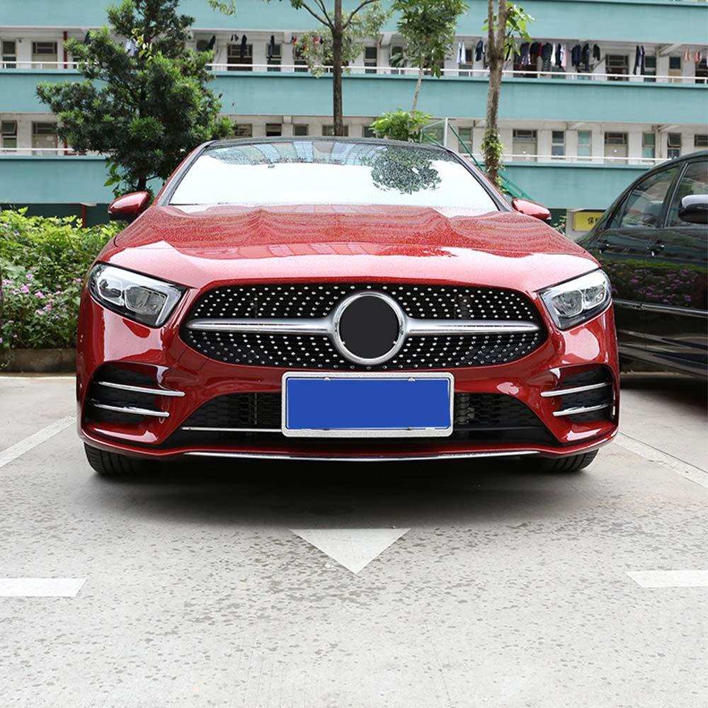 DIYUCAR 4 x ABS cromado l/ámpara delantera de coche decoraci/ón StripTrim para Benz Clase A A180 A200 W177 2019 accesorios