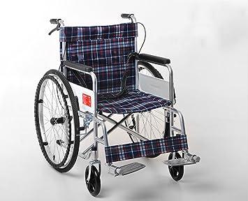 Silla de ruedas Asiento Suave, Senior, Plegable, portátil de Viaje (Color : B): Amazon.es: Deportes y aire libre