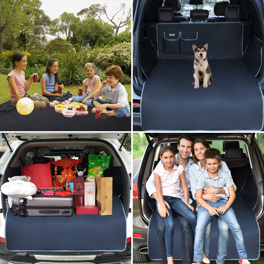 QUEES Car Seat Covers for Dogs Cargo Liner Seat Protector for Cars Trucks SUV Waterproof Heavy Duty Pet Carseat Cover for Back or Front Seats