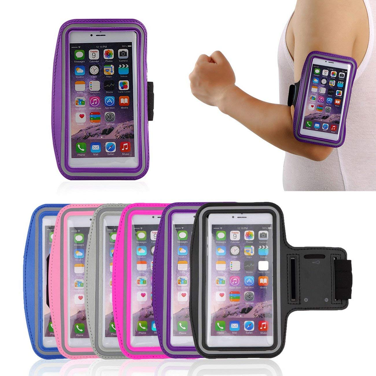 Waterproof Running Jogging Sports Gym Armband Cover Holder iPhone 6 Plus Jiobapiongxin