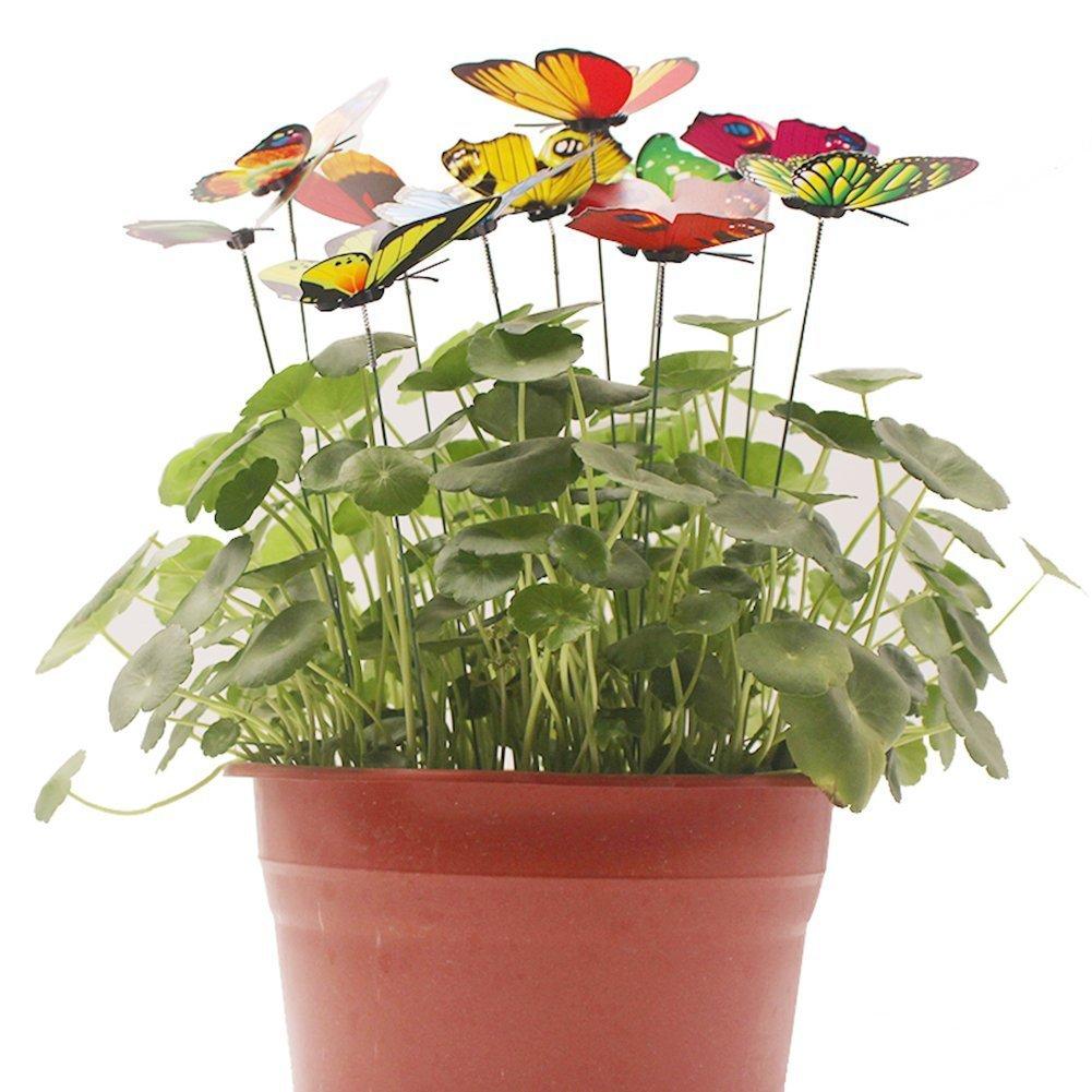 ... Antallcky 100pcs Butterfly Stakes Outdoor Yard Planter Flower Pot Bed Garden Decor Butterflies Christmas Decorations ...  sc 1 th 225 & Antallcky 100pcs Butterfly Stakes Outdoor Yard Planter Flower Pot ...