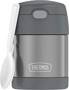 THERMOS FUNTAINER 10 Ounce Stainless Steel Kids Food Jar, Grey