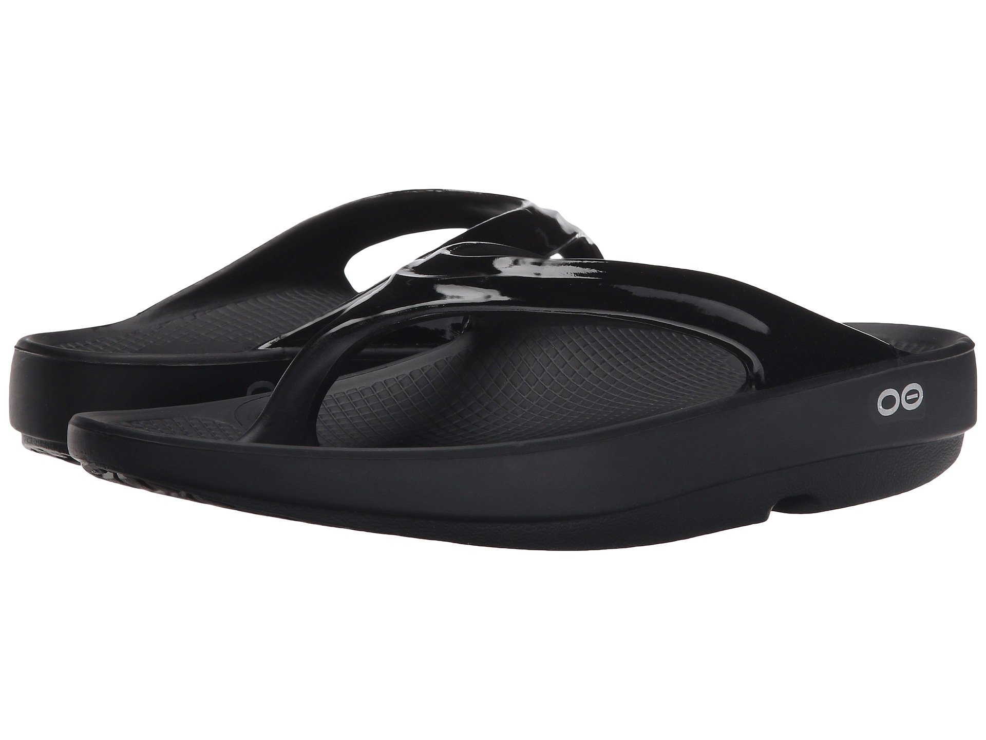 OOFOS Women's OOlala Sandal Black 9 M US