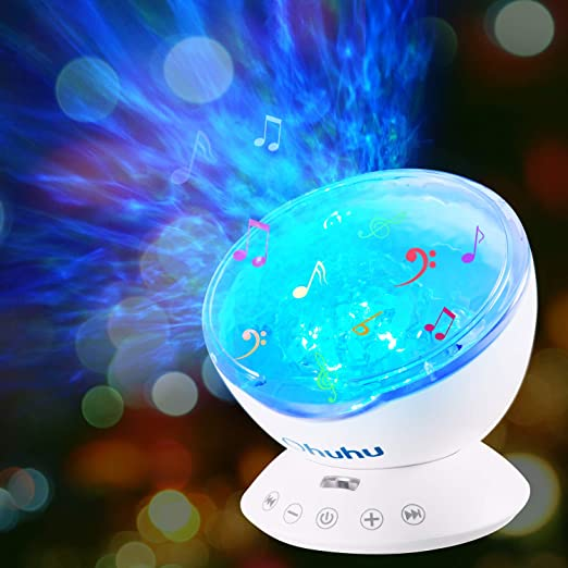 Amazon.com: Ohuhu - Proyector de ondas oceánicas, 12 LED, 7 ...