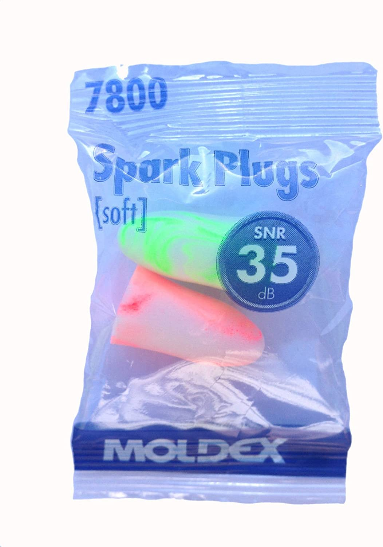 15 Paar Moldex Spark Plugs 7800 Geh/örschutzst/öpsel SNR 35dB