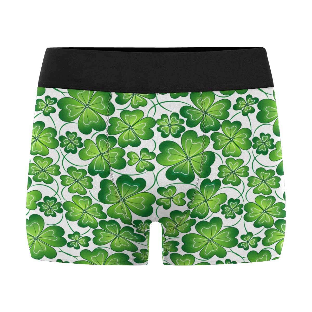 Mens Underwear Pouch Custom St Patricks Day Breathable Boxer Briefs Shorts