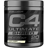C4 Ultimate Shred Pre Workout Powder, Fat Burner for Men & Women, Weight Loss Supplement with Ginger Root Extract, Gummy…