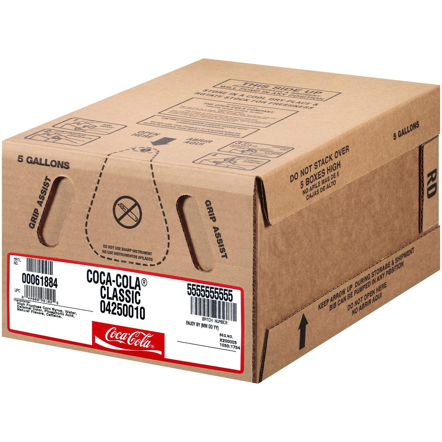 Coca-Cola Bag-In Box Fountain Syrup 5gal. (pack of 4) A1 by Store-383 (Image #1)
