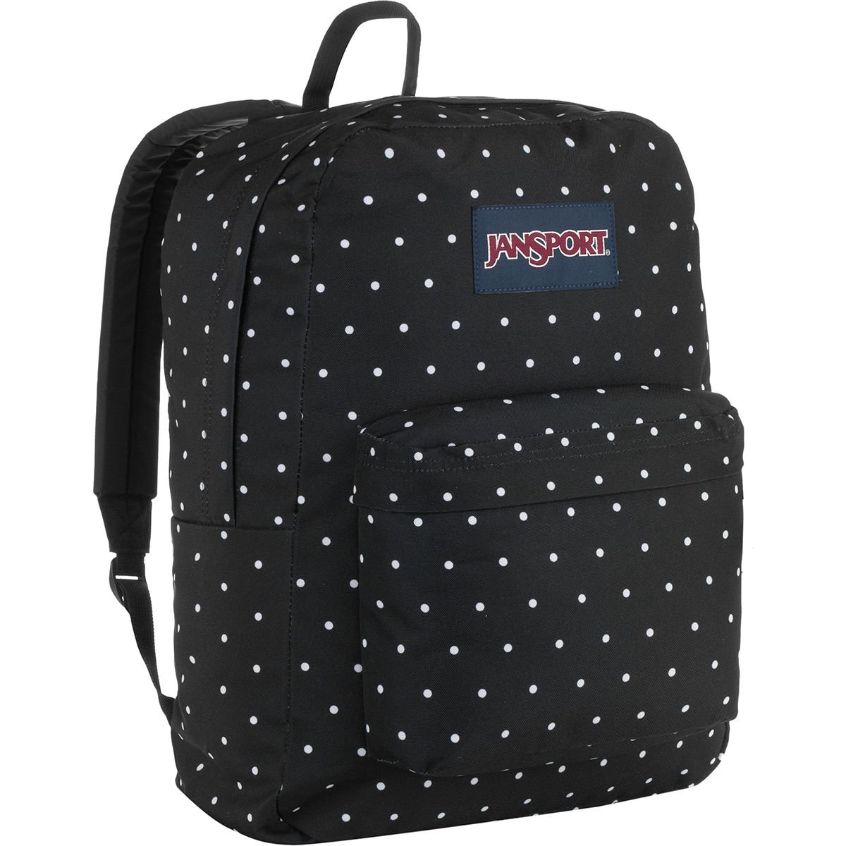 JanSport Unisex SuperBreak Black Polka Dot One Size