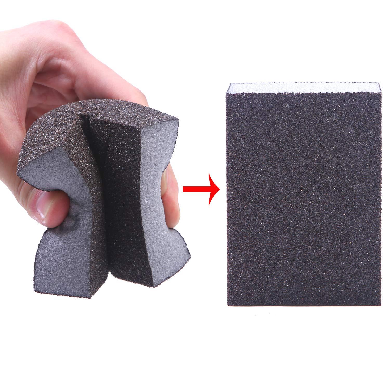Elcoho 12 Pieces Sanding Sponge Coarse Medium Fine Superfine 4 Different  Specifications Assortment Sanding Blocks, Washable and Reusable Sand Sponge