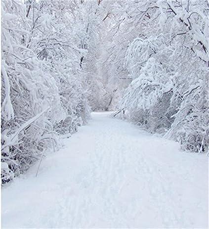 amazon com white snow pine trees photography backdrops wedding