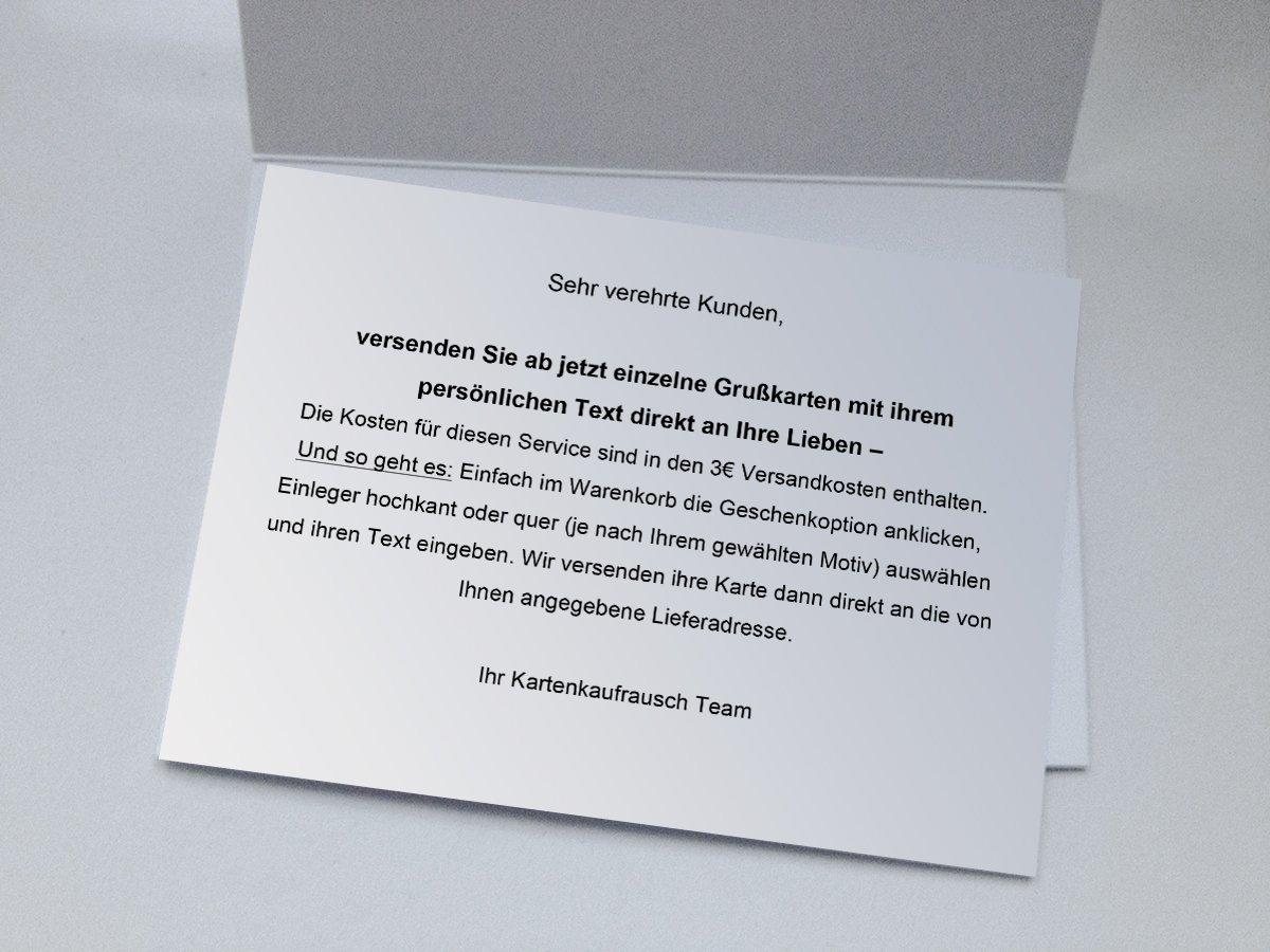 Geschenkkarte f/ür Familie und Firma Kartenkaufrausch Lustige Weihnachtskarte mit schielendem Weihnachts Hirsch /• auch direkt Versand mit ihrem Text Einleger /• als Weihnachtsgru/ß