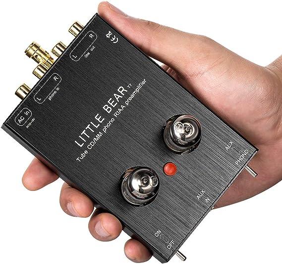 Amazon.com: Nobsound Little Bear T7 Vacumn Tube Mini Phono ...