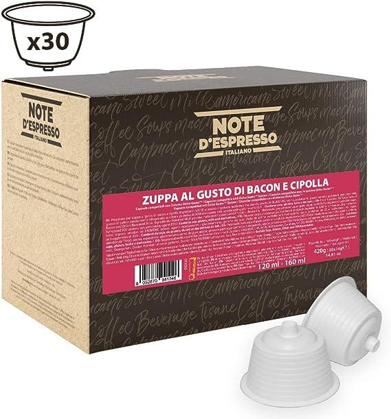 Note DEspresso - Cápsulas de caldo de beicon y cebolla, 14 g ...