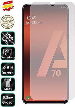 Movilrey Protector para Samsung Galaxy A70 2019 Cristal Templado ...