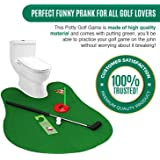 ETCBUYS Potty Golf Game - Potty Putter Toilet Game, Putting Green with Golf Balls, Funny Bathroom Game Gag Gift Prank, Golf Toy Training Tool, for Golf Lovers, Dad Gifts and Funny Pranks