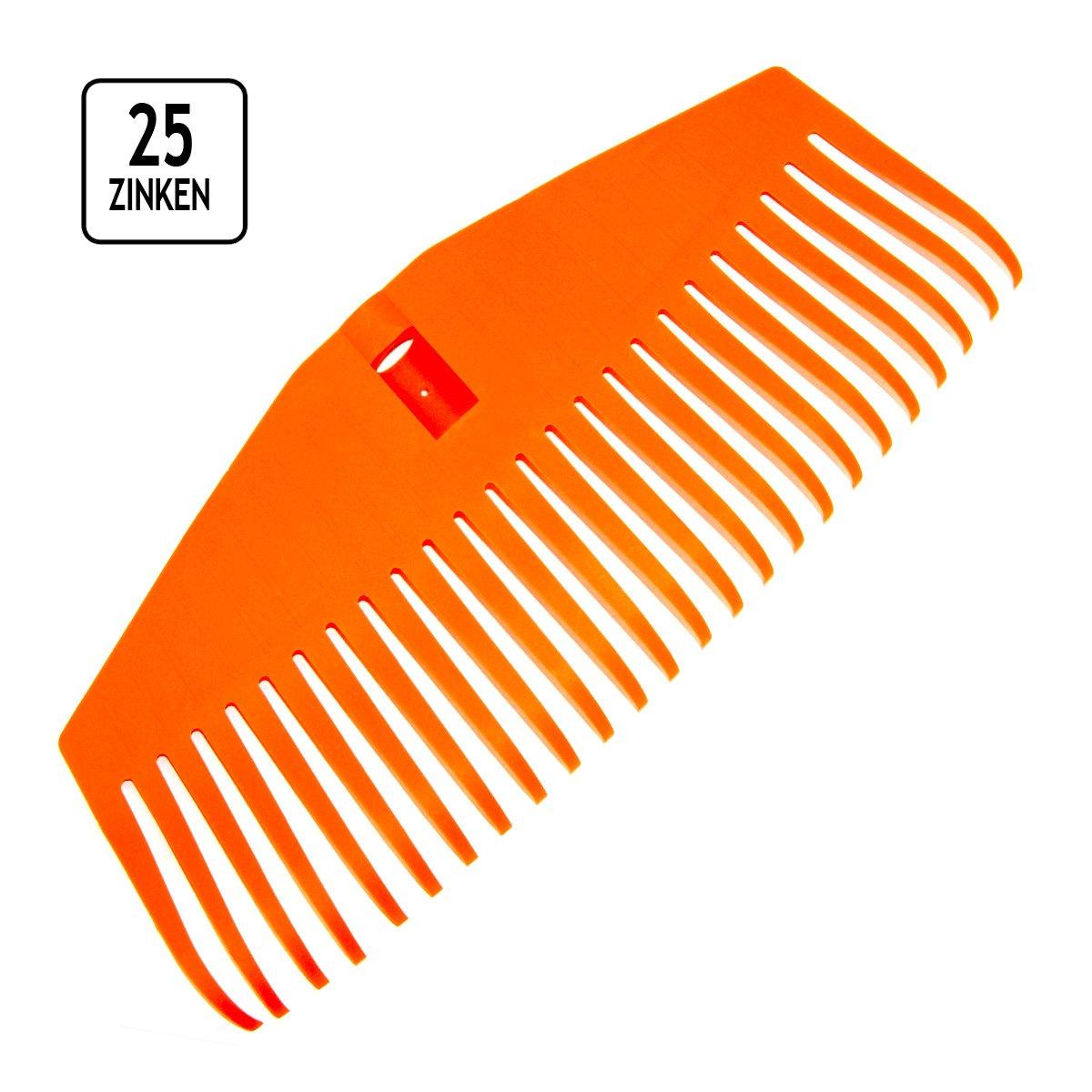 Kunststoff-Laubbesen 25 Zinken Laubrechen F/ächerbesen