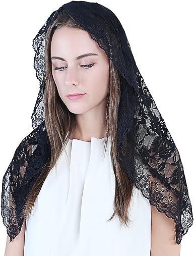 Head Covering Mantilla Mass Catholic Church Chapel Scarf Women Lace Mass