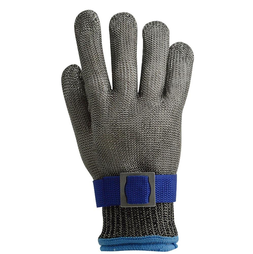 Slaughterhouse protective gloves anti-knife scratches anti-cutting steel wire kitchen cut vegetables wear stainless steel labor insurance work gloves , l by LIXIANG