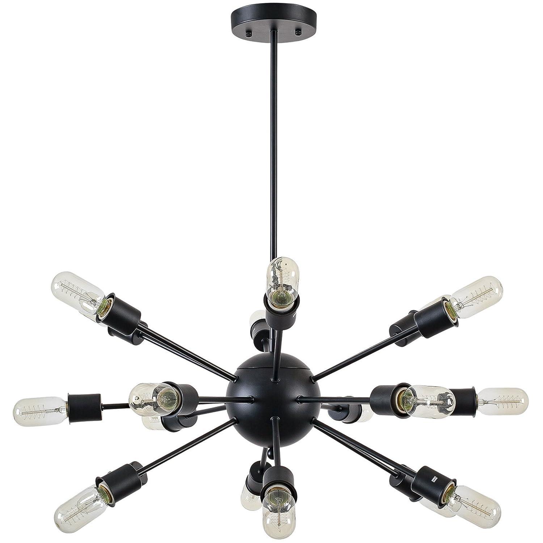 Light society 18 light sputnik style chandelier matte black ls light society 18 light sputnik style chandelier matte black ls c115 blk amazon aloadofball Images