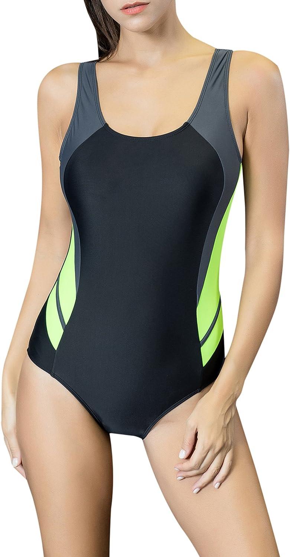 Uhnice Women's One Piece Swimsuits Racing Training Sports Athletic Swimwear: Clothing