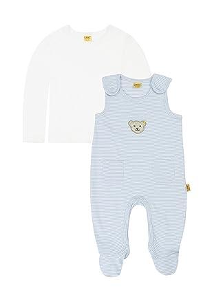 aeca9df6e9466d Steiff Unisex - Baby Strampler  Amazon.de  Bekleidung